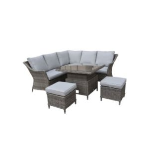 Croft Arles Corner Sofa Lounge Set 6 Seat Brown Rattan Style