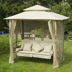 Greenfingers Regency 3 Seater Swing Seat - Natural