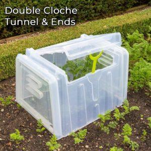Mini Greenhouse Cloche Tunnels - Double Width