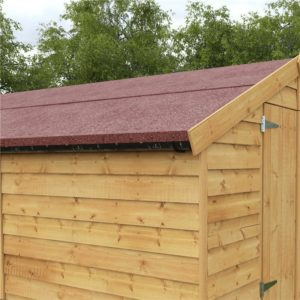 Red Mineral Shed Felt - Premium Shed Roofing Felt - 8m x 1m Roll