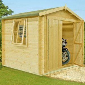 Shire Bradley Untreated 19mm Garden Log Cabin 7' x 7'