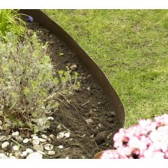 10m Smartedge Flexible Lawn Edging - Brown - H14cm