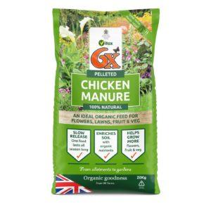 6x Strength Pelleted Chicken Manure 20kg