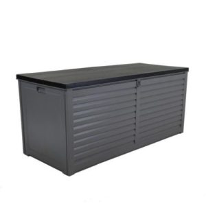 Bentley Plastic Garden Storage Box Grey & Black 490L