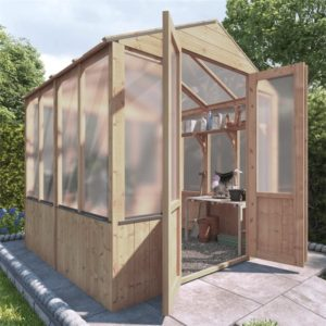 BillyOh 4000 Lincoln Wooden Polycarbonate Greenhouse - PT-6 x 6 Lincoln Wooden Greenhouse