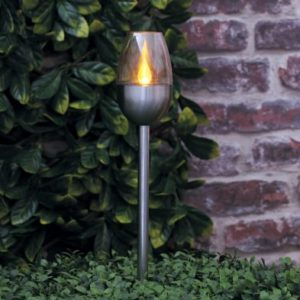 Bright Garden Solar Torch Flame Stake Light