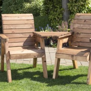 Charles Taylor 2 Seat Tete-a-tete Garden Bench & Table