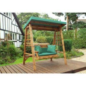 Charles Taylor Dorset 2 Seat Garden Swing - Green Cushions