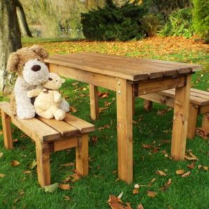Charles Taylor Little Fellas 4 Seat Kids ECO Garden Bench & Table