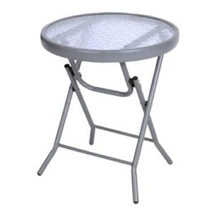 Croft Fold Up Universal Silver Patio Table Garden Furniture