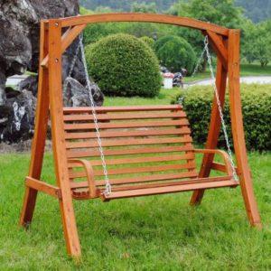 Wooden Large 2-3 Seater Garden Swing Seat Hammock 1.9M