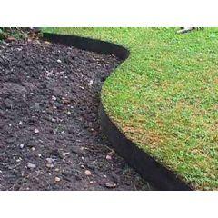 10m Smartedge Flexible Lawn Edging - Black - H14cm