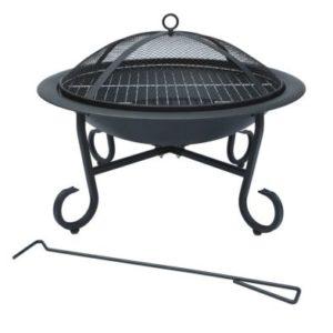 56cm Round Garden Outdoor Patio Fire Pit Heater