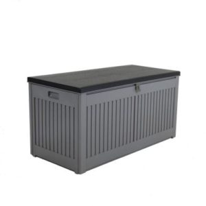 Bentley Plastic Garden Storage Box Grey & Black 270L