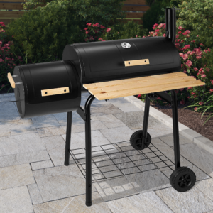 BillyOh Smoker BBQ Charcoal Grill Full Drum + Offset Smoker Barbecue - Portable Full Drum