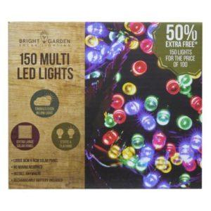 Bright Garden 100Pk Multi Col Solar Lights +50% Free