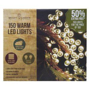 Bright Garden 100Pk Warm White Solar Lights +50% Free