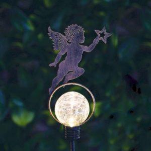 Bright Garden Solar Stake Light - Cherub With Star