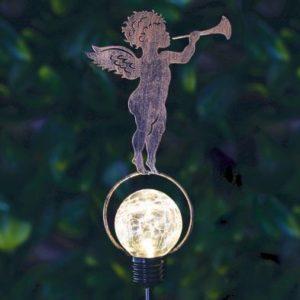 Bright Garden Solar Stake Light - Cherub With Trumpet