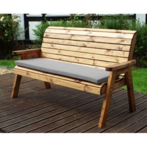 Charles Taylor 3 Seat Winchester Garden Bench Grey