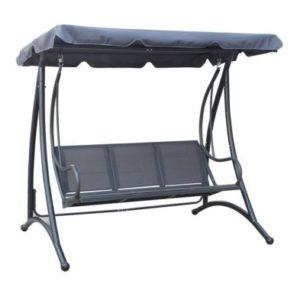 3 Seater Swing Seat Garden Patio Hammock & Canopy - Grey
