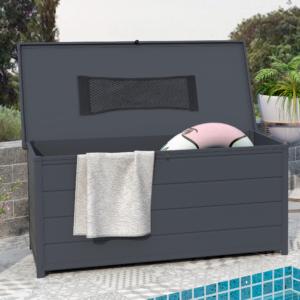 BillyOh Swindon Plastic Garden Storage Box Grey - 7 x 7