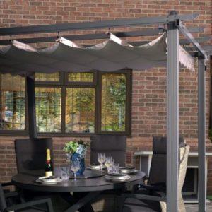 Croft 4m x 3m Farwell Charcoal Pergola Summer Garden Gazebo