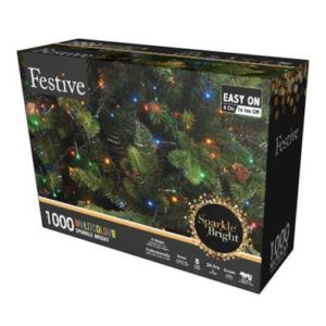 1000 LED Multicolour 24.9m Fairy Christmas Tree Outdoor Lights