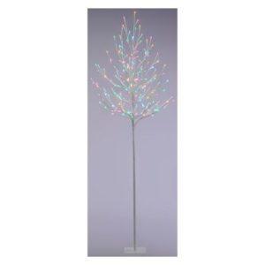 120 LED Aurora Twig Outdoor Christmas Tree Multicoloured 10m