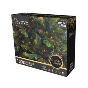 1500 LED Multicolour 37.4m Fairy Christmas Tree Outdoor Lights