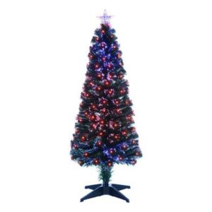 150cm (5 Foot) Colour Changing Fibre Optic 185 Tips Christmas Tree