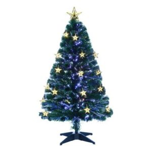 150cm (5 Foot) Multicoloured Fibre Optic 170 Tips Christmas Tree