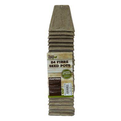 24 Pack Growing Patch Square 6cm Fibre Seed Pot