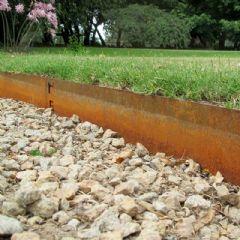 5m Everedge Classic Lawn Edging- H10cm - Cor-Ten
