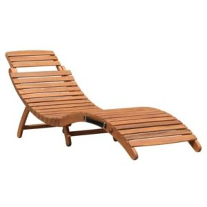 Charles Bentley FCS Acacia Hardwood Large Curved Folding Sun Lounger