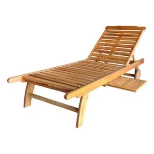 Charles Bentley FSC Acacia Hardwood Sun Lounger with Pull Out Tray