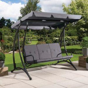Croft Grey Fraser 3 Seater Swing Chair
